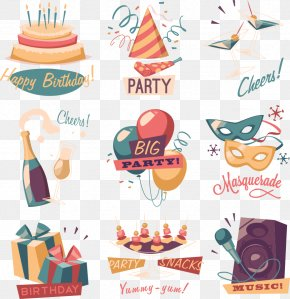 Vector Birthday Tag PNG