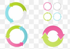 Pen Touch Vector Small Fresh Circle Arrow - Circle Arrow Photoshop Plugin PNG