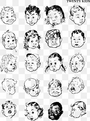 Facial Expressions - Fun With A Pencil Drawing The Head And Hands Figure Drawing For All It's Worth PNG