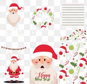 Cute Santa Claus Cover Letter - Santa Claus Christmas Ornament Paper Clip Art PNG