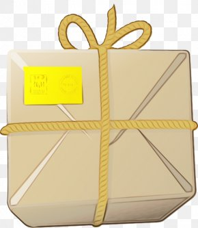 Gift Wrapping Box - Yellow Box Gift Wrapping PNG