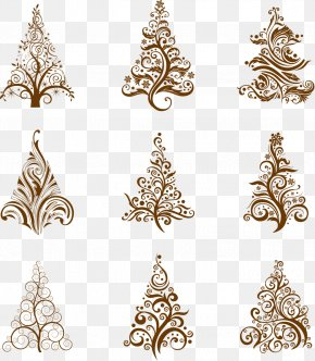 Christmas Tree Silhouette - Christmas Tree Santa Claus Clip Art PNG