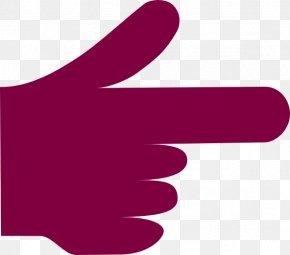 Finger Pointing - Index Finger Hand Clip Art PNG