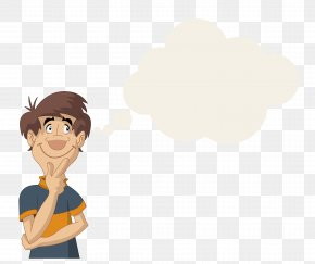 Thinking Cartoon People - Thought Symbol Cartoon PNG