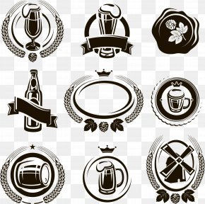 Beer Icon Labels - Brewery Keg Barrel Label PNG