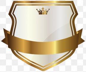 Label - Gold Banner Clip Art PNG