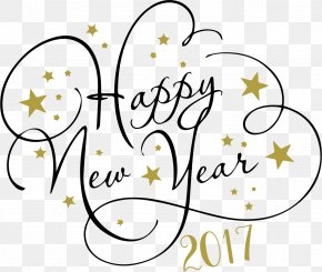 Happy New Year - New Year's Day New Year's Eve January 1 Clip Art PNG