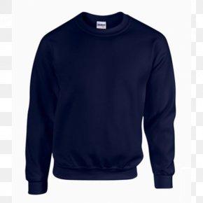 T-shirt - T-shirt Crew Neck Hoodie Sweater Navy Blue PNG