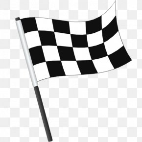 Checkered Flag - Flag Of The United States Banner Icon PNG