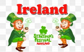 Ireland - Saint Patrick's Day Leprechaun Wish Clip Art PNG
