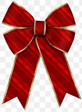 Christmas - Bow And Arrow Christmas Ribbon Gift Clip Art PNG