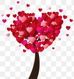Valentines Day - Heart Tree Valentine's Day Clip Art PNG