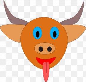 Cartoon Bulls - Cattle Water Buffalo Ox Bull Clip Art PNG