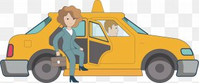 By Taxi - Taxi Cartoon PNG