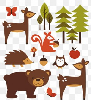 Forest Animals - Animal Forest Illustration PNG