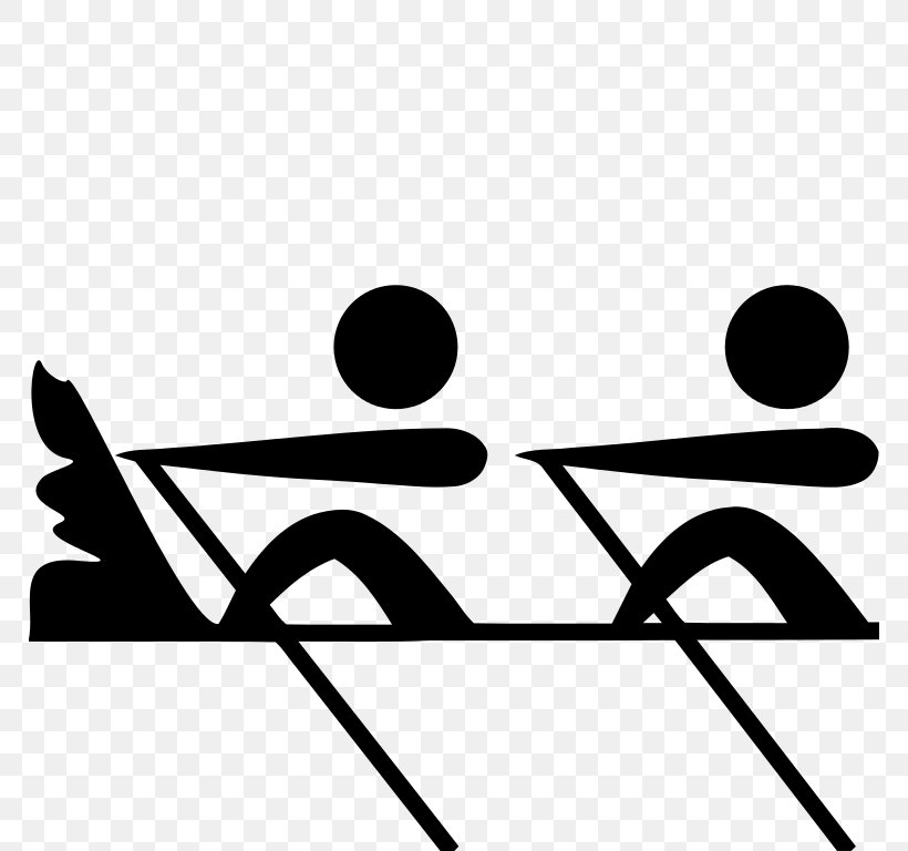 Rowing At The Summer Olympics Summer Olympic Games Clip Art, PNG, 768x768px, Rowing At The Summer Olympics, Anatomy Of A Rowing Stroke, Area, Black, Black And White Download Free