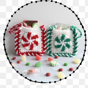 Santa Claus - Crochet Candy Cane Christmas Ornament Santa Claus Pattern PNG