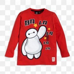 Printed T Shirt Red - Long-sleeved T-shirt Baymax Tadashi Hamada PNG