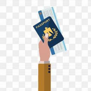 Vector Flat Passport Ticket - Airplane Airline Ticket Passport Euclidean Vector PNG