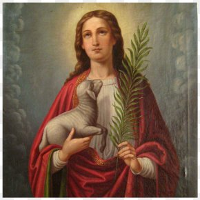 Saint Nicholas - Agnes Of Rome Patron Saint Oil Painting PNG