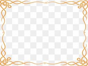 Decorative Borders - Borders And Frames Orange Free Content Clip Art PNG