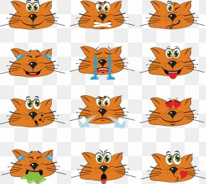 Vector Cute Hand-painted Kitten Posters - Emoticon Euclidean Vector Icon PNG