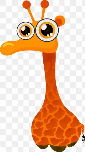 Cartoon Giraffe - Giraffe Leopard Cartoon PNG