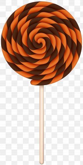 Halloween Swirl Lollipop Clip Art Image - Lollipop Candy Halloween Clip Art PNG