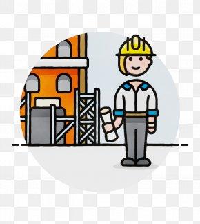 Construction Headgear - Cartoon Construction Worker Clip Art Headgear Construction PNG