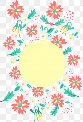 Red Circle Flower - Clip Art PNG