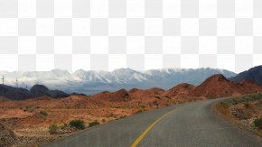 Snowy Mountain Road - Road Highway Cement PNG