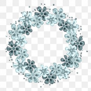 Flower Cluster - Turquoise Teal Body Jewellery Circle PNG