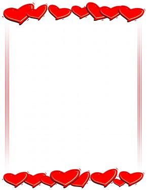 Hearts Pictures - Right Border Of Heart Valentine's Day Clip Art PNG