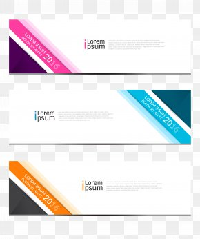 BANNERS - Web Banner Euclidean Vector Icon PNG