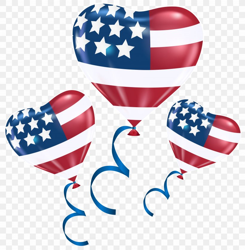 Flag Of The United States Independence Day Balloon Clip Art, PNG, 7849x8000px, United States, Balloon, Body Jewelry, Flag Of The United States, Heart Download Free