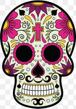 La Calavera Catrina - Calavera Skull And Crossbones Day Of The Dead Mexican Cuisine Death PNG