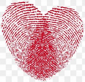 Heart Print Clipart - Fingerprint Heart Love Live Scan PNG
