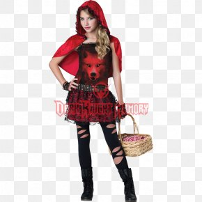 Little Red Riding Hood Halloween Costume - Little Red Riding Hood Halloween Costume Child Clothing PNG