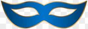 Blue Carnival Mask Clip Art Transparent Image - Logo Mask Font Blue PNG