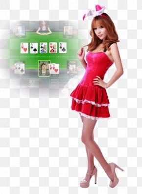 Playing Cards Model - Texas Hold Em Model Red Skin PNG