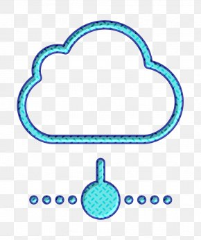 Turquoise Cloud Icon - Cloud Computing Icon Business Set Icon Cloud Icon PNG