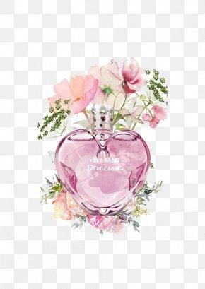 Pink Perfume Bottle - Wedding Invitation Perfume Watercolor Painting Flower Pink PNG