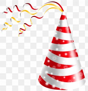 White And Red Party Hat Clipart Image - Party Hat Birthday Clip Art PNG