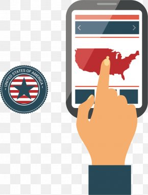 US Mobile Phone Map - United States Infographic Euclidean Vector Icon PNG