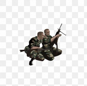 Creative Force,Military Material,Be A Soldier - Soldier Military Euclidean Vector Icon PNG