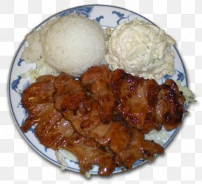 Barbecue - Barbecue Chicken Cuisine Of Hawaii Cooked Rice Fried Chicken PNG