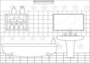 Bathroom Background Cliparts - Bathroom Bathtub Shower Sink Clip Art PNG