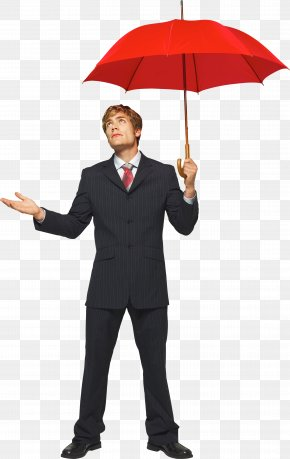 Businessman Image - Umbrella Icon PNG
