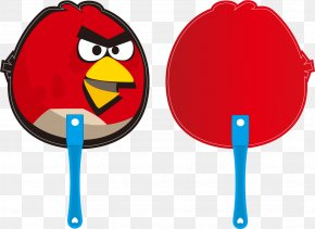 Angry Birds Vector Painted Advertising Fan - CorelDRAW Clip Art PNG
