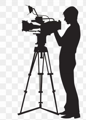 Camera Man Projection - Camera Operator Video Camera Clip Art PNG
